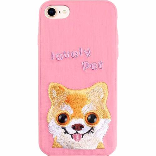 Чехол Mutural Design Lovely Pet для iPhone 7 / 8 розовыйЧехлы для iPhone 7<br>Mutural Design Lovely Pet притягивает взгляд с первой секунды.<br><br>Цвет: Розовый<br>Материал: Пластик, текстиль, силикон
