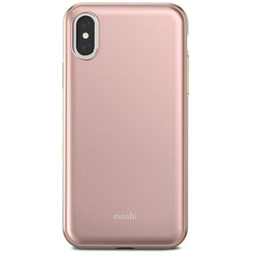 Чехол Moshi iGlaze для iPhone X розовыйЧехлы для iPhone X<br>iGlaze от Moshi для iPhone X — чехол с гибридной конструкцией, которая сочетает в себе дизайн, функциональность и защиту при падениях.<br><br>Цвет товара: Розовый<br>Материал: Поликарбонат, полиуретан