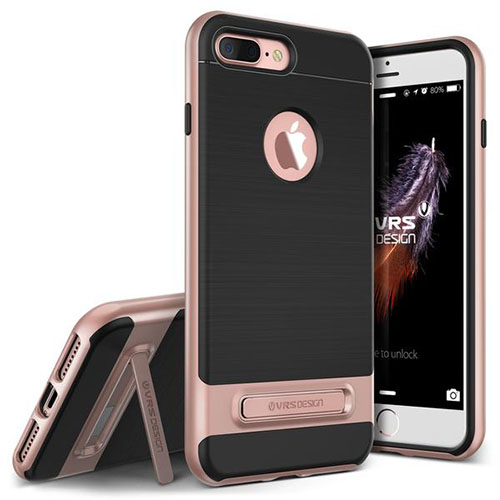 Чехол Verus High Pro Shield для iPhone 7 Plus (Айфон 7 Плюс) розовое золото (VRIP7P-HPSRG)Чехлы для iPhone 7 Plus<br>Чехол Verus для iPhone 7 Plus High Pro Shield, розовое золото (904639)<br><br>Цвет товара: Розовое золото<br>Материал: Полкикарбонат, полиуретан