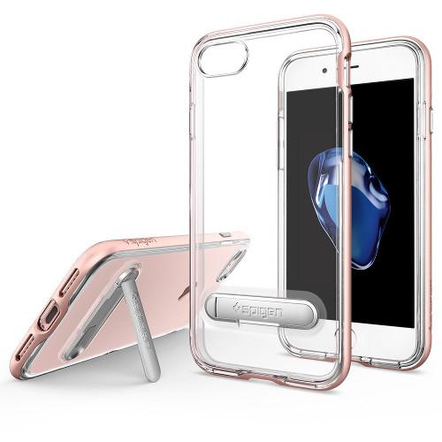 Чехол Spigen Crystal Hybrid для iPhone 7, iPhone 8 (Айфон 7) розовое золото (SGP-042CS20461)Чехлы для iPhone 7<br>Spigen Crystal Hybrid — идеальный чехол для минималистов, которые ценят максимальную функциональность! Плюс Crystal Hybrid — это удобная подставка с магнитной подножкой для вашего смартфона во время просмотра фото, видео или общения по FaceTime.<br><br>Цвет товара: Розовое золото<br>Материал: Поликарбонат, полиуретан