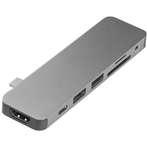 Хаб HyperDrive SOLO 7-in-1 USB-C Hub для MacBook серый космосХабы - разветвители USB<br>Хаб HyperDrive SOLO 7-in-1 удобен в использовании, компактен и невероятно универсален.<br><br>Цвет товара: Серый космос<br>Материал: Алюминий