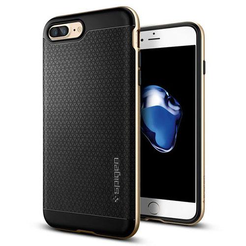 Чехол Spigen Neo Hybrid для iPhone 7 Plus (Айфон 7 Плюс) золотой (SGP-043CS20683)Чехлы для iPhone 7 Plus<br>Чехол Spigen для iPhone 7 Plus Neo Hybrid шампань (043CS20683)<br><br>Цвет товара: Золотой<br>Материал: Поликарбонат, термопластичный полиуретан