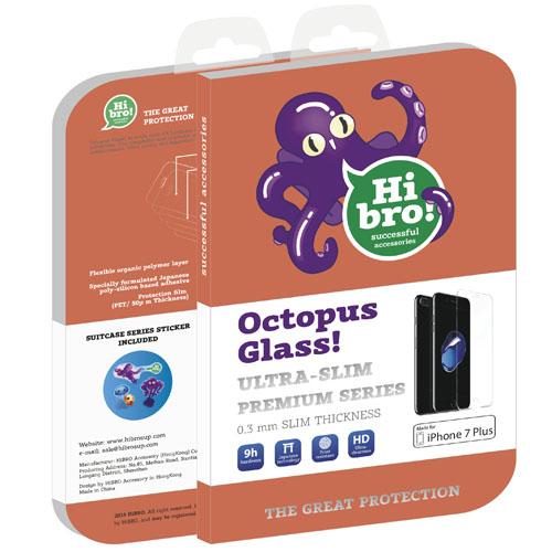 Защитное стекло HiBro! Octopus Glass для iPhone 7/6/6s PlusСтекла/Пленки на смартфоны<br>HiBro! Octopus Glass убережёт экран смартфона от неприятностей!<br><br>Цвет товара: Прозрачный<br>Материал: Стекло
