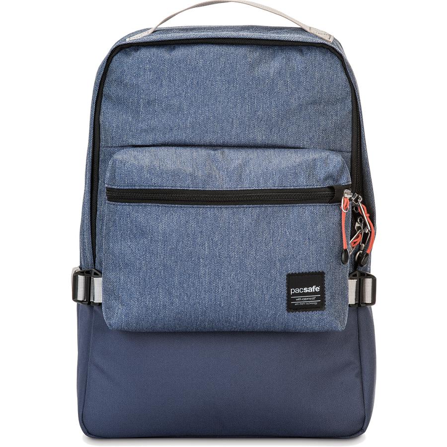Рюкзак Pacsafe Slingsafe LX350 DenimРюкзаки<br>Pacsafe Slingsafe LX350 представляет собой городской противоугонный рюкзак, в котором вы сможете уверенно и комфортно передвигаться по городу.<br><br>Цвет товара: Синий<br>Материал: Текстиль, нержавеющая сталь, пластик