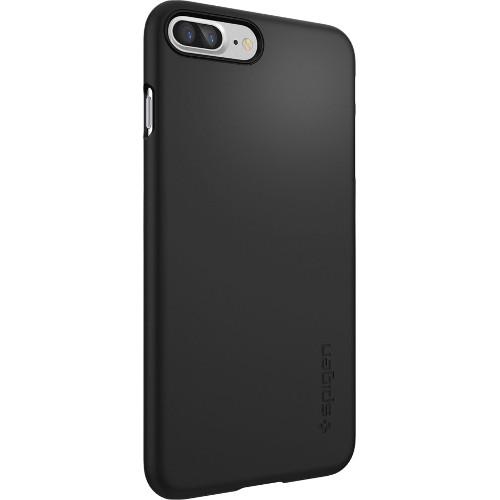 Чехол Spigen Thin Fit для iPhone 7 Plus чёрный (SGP-043CS20471)Чехлы для iPhone 7 Plus<br>Ультратонкий и невероятно лёгкий, словно пёрышко, чехол Spigen Thin Fit практически не прибавит объёма и веса мощному смартфону.<br><br>Цвет товара: Чёрный<br>Материал: Поликарбонат