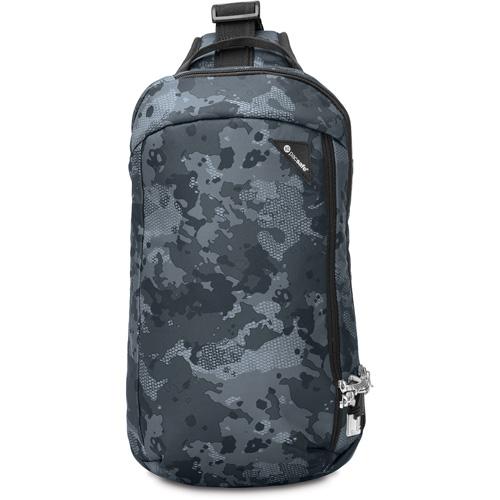 Сумка Pacsafe Vibe 325 серый камуфляжСумки и аксессуары для путешествий<br>PacSafe Vibe 325 Grey/Camo<br><br>Цвет товара: Серый<br>Материал: Текстиль, нержавеющая сталь, пластик