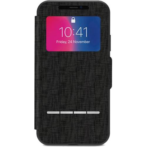 Чехол Moshi SenseCover для iPhone X чёрныйЧехлы для iPhone X<br>Проверяйте дату, время, отвечайте и отклоняйте звонки, используйте Apple Pay, не открывая крышки чехла!<br><br>Цвет товара: Чёрный<br>Материал: Поликарбонат, полиуретановая кожа