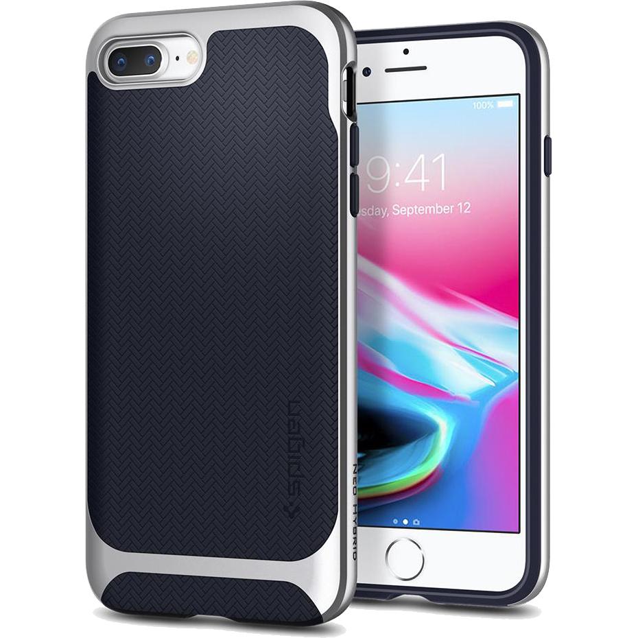 Чехол Spigen Neo Hybrid Herringbone для iPhone 8 Plus / 7 Plus серебристый (055CS22229)Чехлы для iPhone 7 Plus<br>Spigen Neo Hybrid Herringbone — стильный и прочный чехол для мощного смартфона Apple iPhone 8 Plus.<br><br>Цвет: Серебристый<br>Материал: Поликарбонат, термопластичный полиуретан