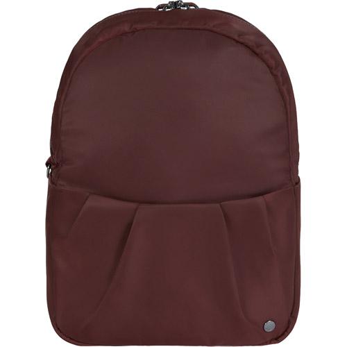 Рюкзак-трансформер Pacsafe Citysafe CX Anti-theft Convertible Backpack бордовый (Merlot)Сумки и аксессуары для путешествий<br>Pacsafe Citysafe CX Anti-theft Convertible — стильный повседневный рюкзак, который в считанные секунды трансформируется в элегантную сумку.<br><br>Цвет: Красный<br>Материал: 100D нейлон, 75D полиэстер, нержавеющая сталь