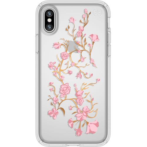 Чехол Speck Presidio Clear + Print для iPhone X (Golden Blossoms Pink) прозрачныйЧехлы для iPhone X<br>Speck Presidio Clear + Print защитит ваш iPhone X и придаст ему презентабельный внешний вид.<br><br>Цвет товара: Прозрачный<br>Материал: Поликарбонат