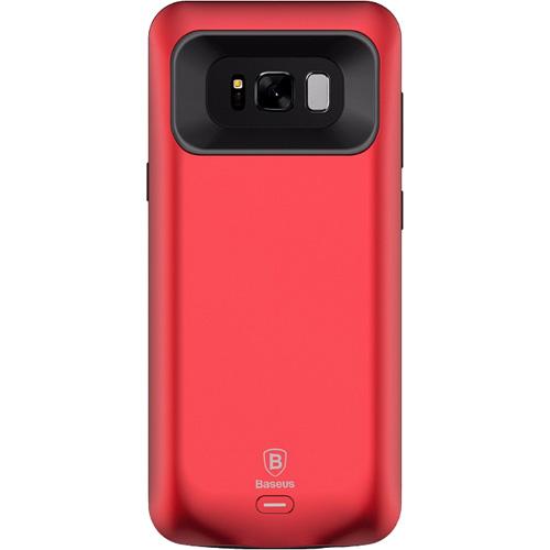 Чехол-аккумулятор Baseus Geshion Backpack Power Bank 5000 mAh для Samsung Galaxy S8 красныйЧехлы для Samsung Galaxy S8/S8 Plus<br>Тонкий и легкий чехол от Baseus обеспечит ваш Samsung Galaxy S8 100% защитой и энергией!<br><br>Цвет товара: Красный<br>Материал: Поликарбонат, термополиуретан
