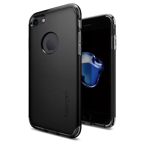 Чехол Spigen Hybrid Armor для iPhone 7, iPhone 8 чёрный (SGP-042CS20841)Чехлы для iPhone 7<br>Чехол Spigen Hybrid Armor для iPhone 7 (Айфон 7) чёрный (SGP-042CS20841)<br><br>Цвет товара: Чёрный<br>Материал: Поликарбонат, полиуретан