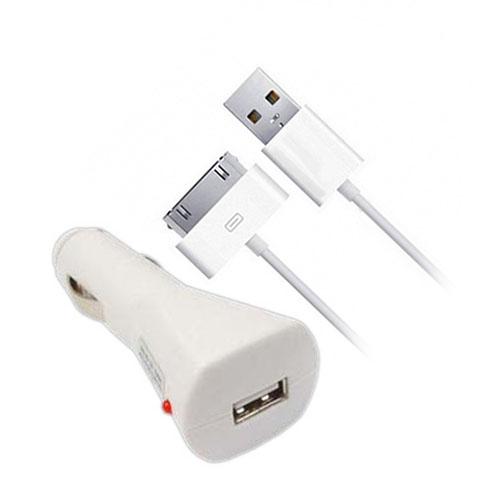 Автомобильное зарядное устройство Logan (WL398-0200)Автозарядки<br>Кабель Logan WL390-0200 2м 30-pin<br><br>Цвет: Белый<br>Материал: Пластик, силикон