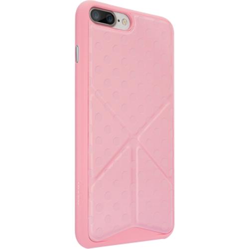 Чехол Ozaki O!coat 0.4+Totem Versatile для iPhone 7 Plus (Айфон 7 Плюс) розовыйЧехлы для iPhone 7 Plus<br>Чехол Ozaki Jelly 0.4 + Totem Versalite для iPhone 7 Plus - розовый<br><br>Цвет товара: Розовый<br>Материал: Поликарбонат, полиуретановая кожа