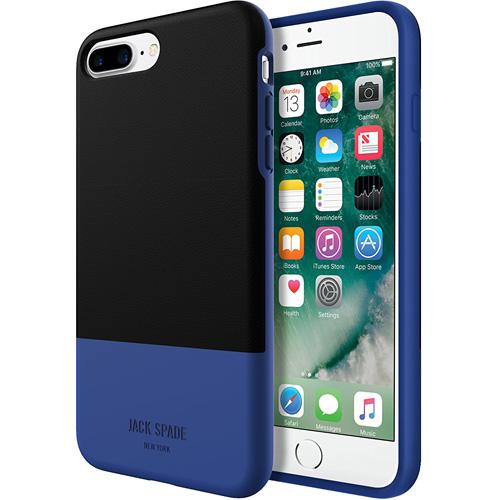 Чехол Jack Spade Color-Block Case для iPhone 7 Plus чёрный/синийЧехлы для iPhone 7 Plus<br>Jack Spade Color-BlockCase — надёжный и стильный чехол для вашего iPhone, изготовленный из материалов высшего качества.<br><br>Цвет товара: Синий<br>Материал: Поликарбонат, экокожа