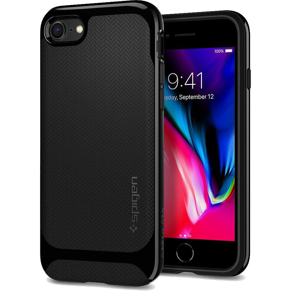 Чехол Spigen Neo Hybrid Herringbone для iPhone 8/7 черный (054CS22200)Чехлы для iPhone 7<br>Spigen Neo Hybrid Herringbone — стильный и прочный чехол для мощного смартфона Apple iPhone 8.<br><br>Цвет товара: Чёрный<br>Материал: Поликарбонат, термопластичный полиуретан