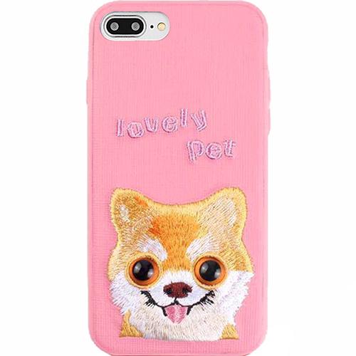 Чехол Mutural Design Lovely Pet для iPhone 7 Plus / 8 Plus розовыйЧехлы для iPhone 7 Plus<br>Mutural Design Lovely Pet притягивает взгляд с первой секунды.<br><br>Цвет: Розовый<br>Материал: Пластик, текстиль, силикон