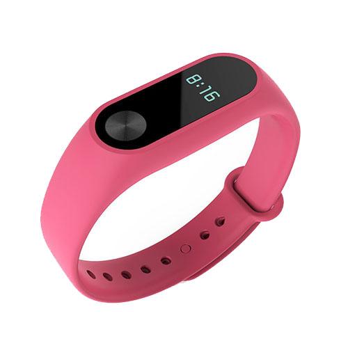 Браслет Xiaomi Mi Band 2 розовыйБраслеты, кардиодатчики<br>В Xiaomi Mi Band 2 используются самые современные и надежные технологии!<br><br>Цвет товара: Розовый<br>Материал: Пластик, силикон