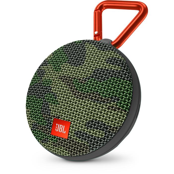 Портативная акустическая система JBL Clip 2 Special Edition камуфляжКолонки и акустика<br>Ультрамощный портативный динамик JBL CLIP 2 с впечатляющими характеристиками.<br><br>Цвет: Разноцветный<br>Материал: Пластик, металл, текстиль
