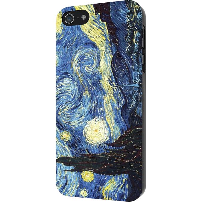 Чехол iPapai для iPhone 7 «Картины» (Ван Гог «Звездная ночь»)Чехлы для iPhone 7<br>Стильный чехол iPapai с уникальным дизайнерским принтом является превосходной комбинацией стиля и надежности.<br><br>Цвет товара: Синий<br>Материал: Силикон