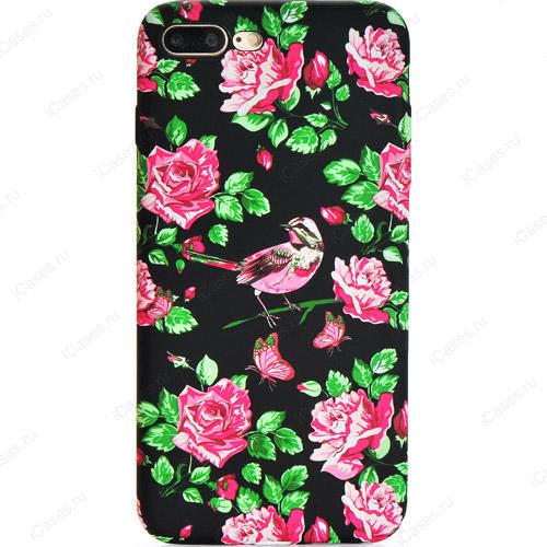 Силиконовый чехол Luxo для iPhone 7 Plus Цветы (стиль 1)