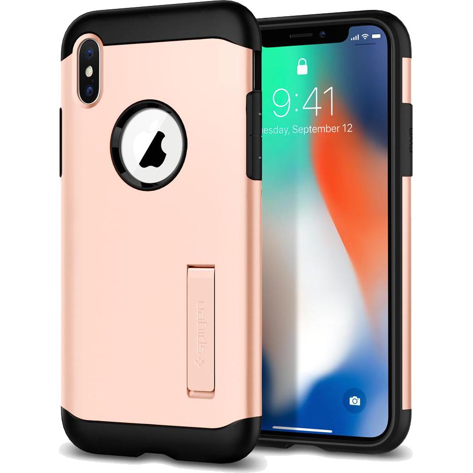 Чехол Spigen Case Slim Armor для iPhone X розовый Blush Gold (057CS22140)Чехлы для iPhone X<br>Знаменитая серия тонких чехлов с высоким уровнем защиты Slim Armor теперь и для мощного iPhone X.<br><br>Цвет товара: Розовый<br>Материал: Термопластичный полиуретан, поликарбонат