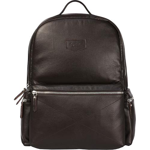Рюкзак Ray Button San Marino для MacBook 13 тёмно-коричневыйРюкзаки<br>Рюкзак Ray Button San Marino — вместительный рюкзак городской серии.<br><br>Цвет товара: Коричневый<br>Материал: Натуральная кожа, текстиль, металл