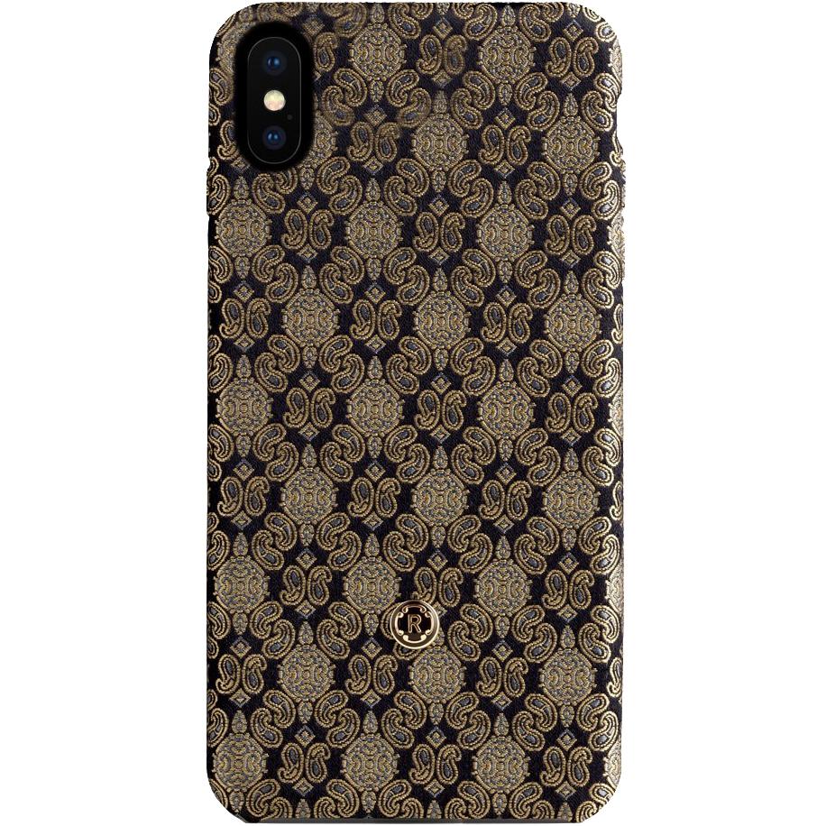 Чехол Revested Silk Collection для iPhone X Venetian GoldЧехлы для iPhone X<br>Премиум-чехлы от лучших мастеров из Италии!<br><br>Цвет товара: Золотой<br>Материал: Шёлк, поликарбонат
