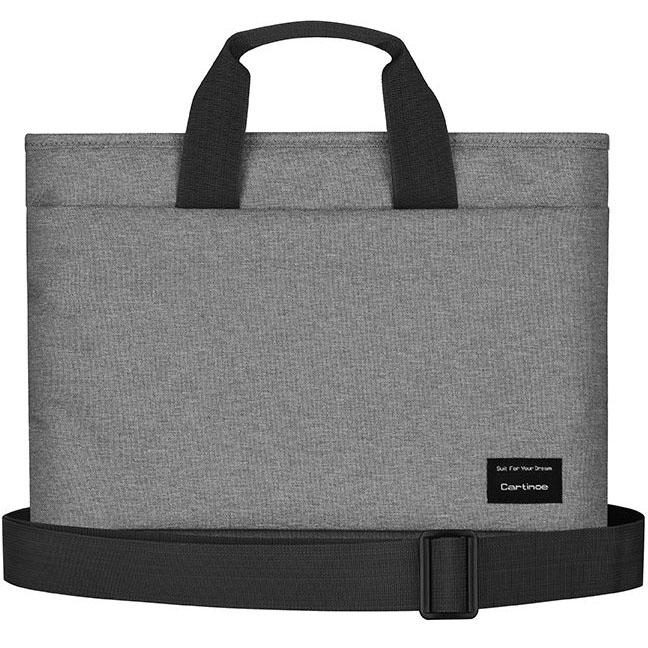 Чехол-сумка Cartinoe Realshine Shoulder Bag для MacBook 13 сераяЧехлы для MacBook Air 13<br>Cartinoe Realshine Shoulder Bag станет верным спутником активного, делового человека.<br><br>Цвет товара: Серый<br>Материал: Водоотталкивающая ткань