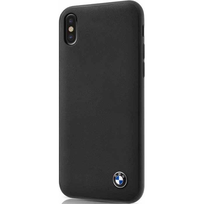 Чехол BMW Signature Genuine Leather Hard для iPhone X чёрныйЧехлы для iPhone X<br>Чехол имеет непринуждённый дизайн, который будет уместен в любой обстановке.<br><br>Цвет: Чёрный<br>Материал: Натуральная кожа, микрофибра, поликарбонат