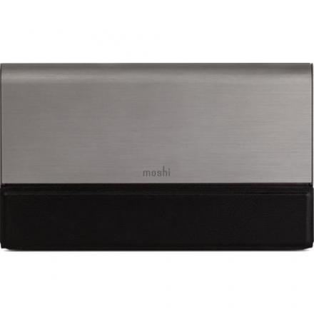 Внешний аккумулятор Moshi IonBank 10K серыйВнешние аккумуляторы<br>Внешний аккумулятор Moshi IonBank 10K серый<br><br>Цвет товара: Серый<br>Материал: Металл, кожа