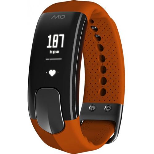 Фитнес-браслет MIO SLICE Sienna (размер S) коричневыйБраслеты, кардиодатчики<br>MIO SLICE поможет узнать сколько шагов вы прошли и сколько затратили калорий, а также время и расстояние, которое вы прошли, и, конечно же, ваш пульс.<br><br>Цвет товара: Коричневый<br>Материал: Пластик, силикон<br>Модификация: S