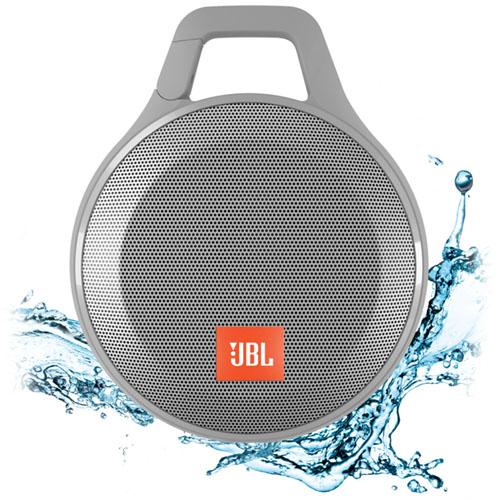 Портативная Bluetooth-акустика JBL Clip+ сераяКолонки и акустика<br>Clip+ готов к любым испытаниям, даже к водным процедурам!<br><br>Цвет товара: Серый<br>Материал: Поликарбонат