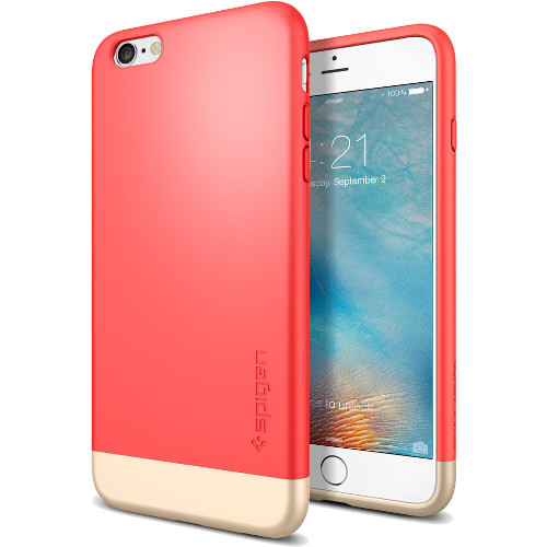 Чехол Spigen Style Armor для iPhone 6/6s Plus итальянская роза (SGP11735)Чехлы для iPhone 6/6s Plus<br>Чехол Spigen для iPhone 6S Plus Slim Armor итальянская роза  (SGP11735)<br><br>Цвет товара: Красный<br>Материал: Поликарбонат