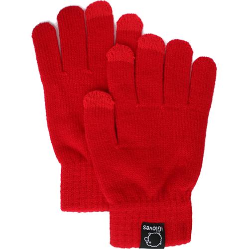 Перчатки из полушерсти iGloves (w4) для iPhone/iPod/iPad/etc красные (Размер M) от iCases