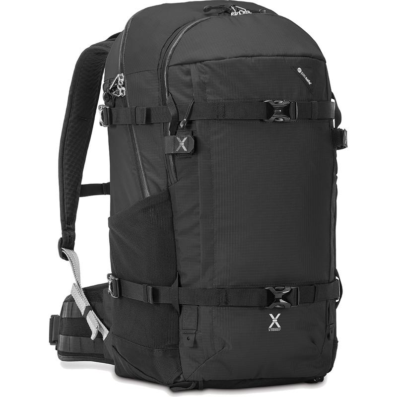 Рюкзак PacSafe Venturesafe X40 PLUS чёрныйРюкзаки<br>Venturesafe X40 — просторный рюкзак для путешествий и походов.<br><br>Цвет товара: Чёрный<br>Материал: Текстиль, нержавеющая сталь, пластик