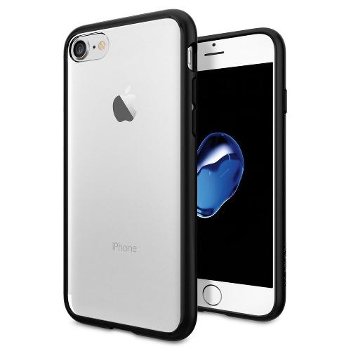 Чехол Spigen Ultra Hybrid для iPhone 7 (Айфон 7) чёрный (SGP-042CS20446)Чехлы для iPhone 7<br>Чехол Spigen Ultra Hybrid для iPhone 7 (Айфон 7) чёрный (SGP-042CS20446)<br><br>Цвет товара: Чёрный<br>Материал: Поликарбонат, полиуретан