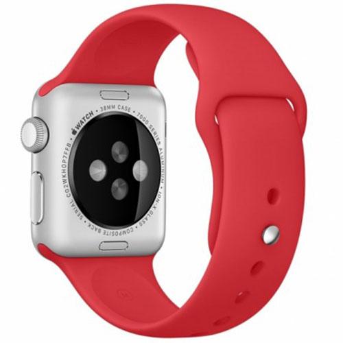 Ремешок силиконовый Rock Sport Band для Apple Watch 38mm КрасныйРемешки для Apple Watch<br>Ремешок силиконовый Rock Sport Band для Apple Watch 38mm - красный<br><br>Материал: Силикон
