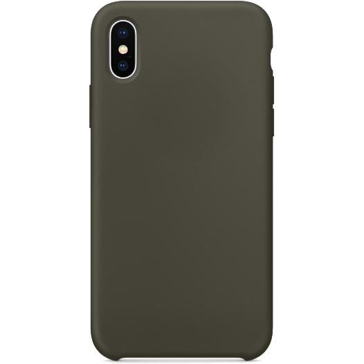 Силиконовый чехол YablukCase для iPhone X тёмно-оливковыйЧехлы для iPhone X<br>Лёгкий и практичный YablukCase — идеальная пара для вашего iPhone X!<br><br>Цвет товара: Зелёный<br>Материал: Силикон