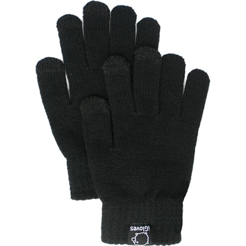 Перчатки из полушерсти iGloves (w1) для iPhone/iPod/iPad/etc чёрные (Размер M) от iCases