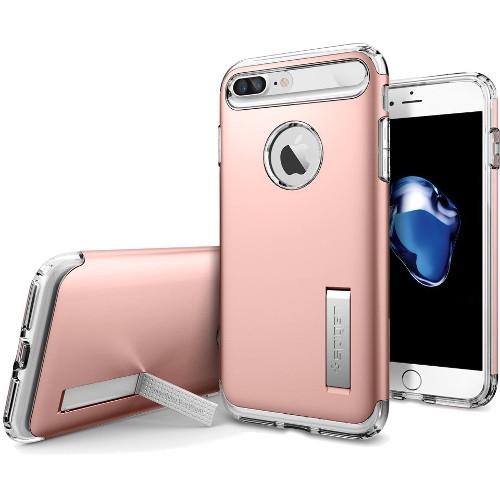 Чехол Spigen Slim Armor для iPhone 7 и 8 Plus розовое золото (SGP-043CS20311)Чехлы для iPhone 7 Plus<br>Spigen Slim Armor — это тончайшая двухслойная защита для вашего Айфон.<br><br>Цвет товара: Розовое золото<br>Материал: Поликарбонат, полиуретан