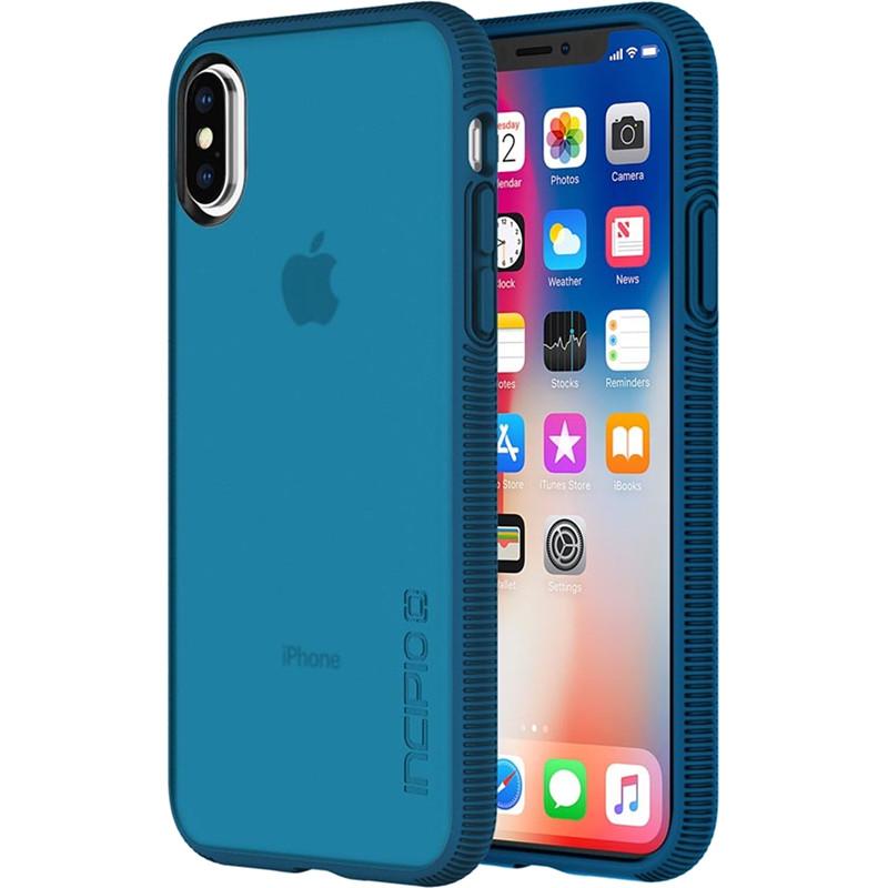 Чехол Incipio Octane для iPhone X тёмно-синийЧехлы для iPhone X<br><br><br>Цвет: Синий<br>Материал: Поликарбонат, термопластичный полиуретан