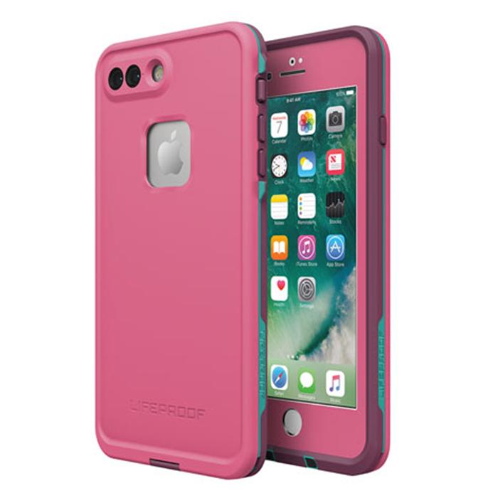 Чехол Lifeproof Fre для iPhone 7 Plus розовыйЧехлы для iPhone 7 Plus<br>Lifeproof Fre для iPhone 7 Plus — водонепроницаемый и максимально лёгкий, прочный чехол.<br><br>Цвет товара: Розовый<br>Материал: Пластик