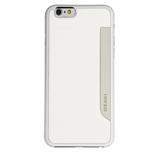 Чехол Ozaki O!coat POCKET 0.3 для iPhone 6/6S белыйЧехлы для iPhone 6/6s<br>Чехол с отделением для кредитки Ozaki Pocket дял iPhone 6/6s белый<br><br>Цвет: Белый<br>Материал: Пластик, кожа