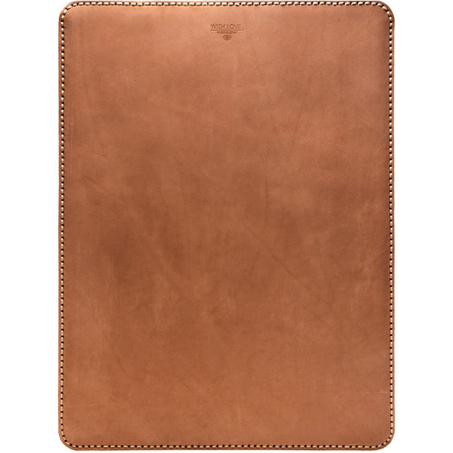 "Кожаный чехол With Love. Moscow Classic для MacBook 12"" (Cappuccino) коричневый"