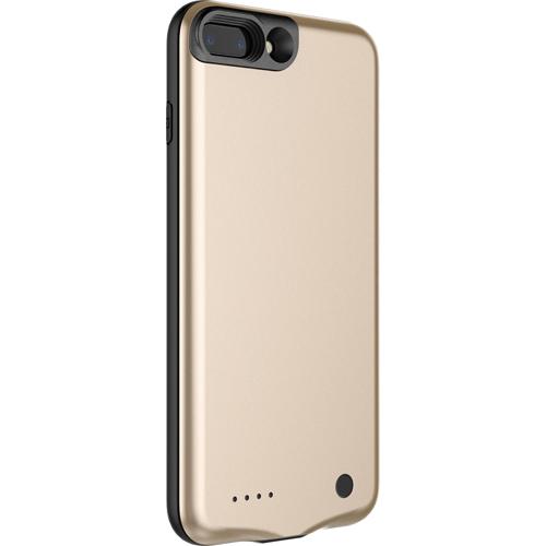 Чехол-аккумулятор Baseus Geshion Backpack Power Bank 3650 mAh для iPhone 7 Plus золотойЧехлы для iPhone 7 Plus<br>Стильный и надежный чехол от Baseus обеспечит ваш iPhone 7 Plus 100% защитой и энергией!<br><br>Цвет товара: Золотой<br>Материал: Поликарбонат, термополиуретан