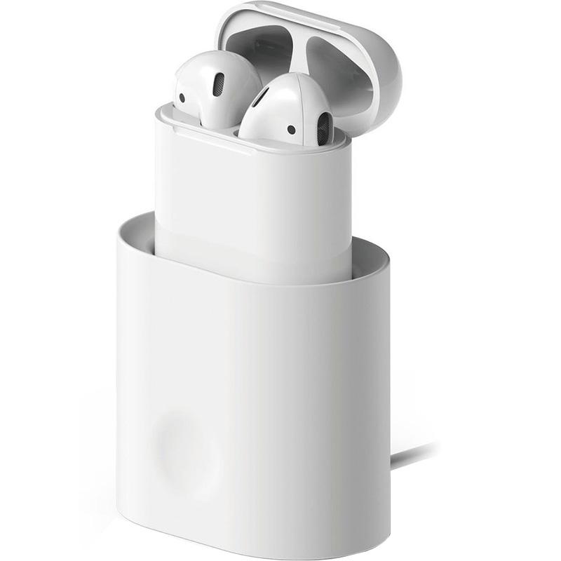 Док-станция Elago Charging Station для AirPods белаяКабели и аксессуары для наушников<br>Заряжайте свои наушники проще, чем когда-либо!<br><br>Цвет: Белый<br>Материал: Силикон