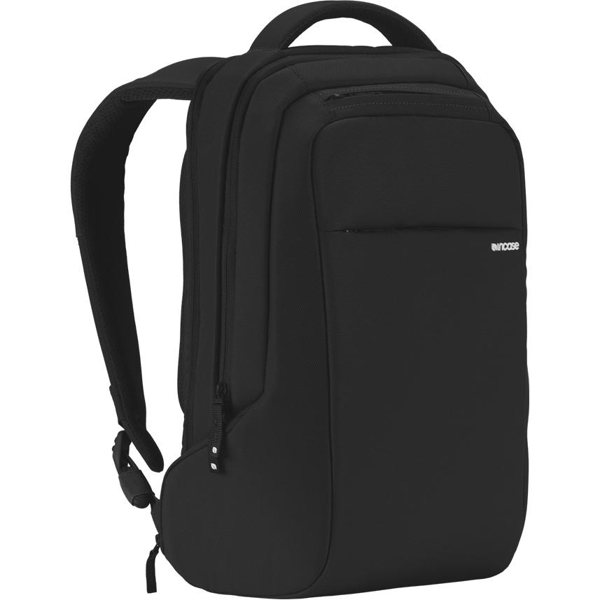 Рюкзак Incase ICON Slim Backpack чёрныйРюкзаки<br>Вместительный и компактный рюкзак для городских прогулок и ежедневных путешествий.<br><br>Цвет товара: Чёрный<br>Материал: 840D нейлон, искусственный мех (плюш)