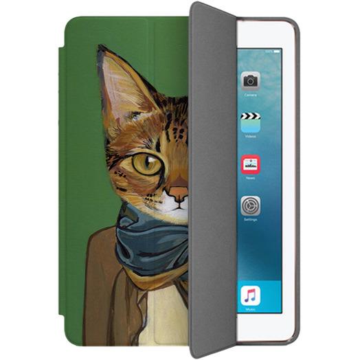 Чехол Muse Smart Case для iPad Pro (10.5) Кот в шарфеЧехлы для iPad Pro 10.5<br>Чехлы Muse Smart Case — это индивидуальность, насыщенность красок, оригинальные принты и надёжная защита от повреждений.<br><br>Цвет: Зелёный<br>Материал: Поликарбонат, полиуретановая кожа