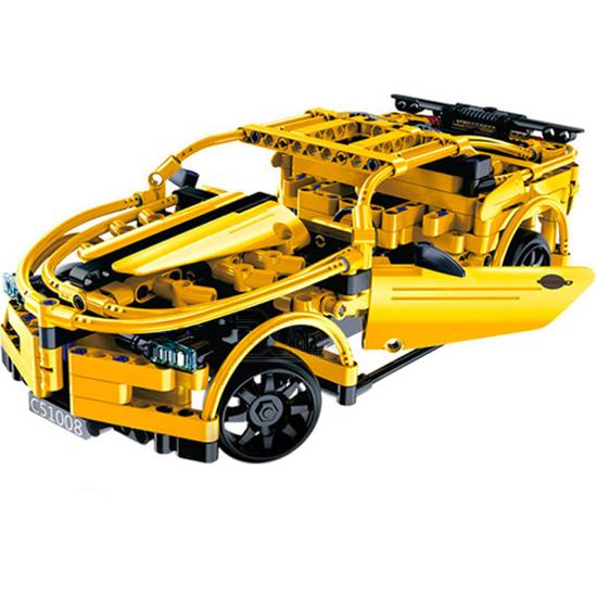 Игрушка конструктор EvoPlay Hornet Sport Car (CR-003C)3D пазлы и конструкторы<br>Игрушка конструктор Evoplay CR-003C Hornet sport car (419 дет)<br><br>Цвет товара: Жёлтый<br>Материал: Пластик